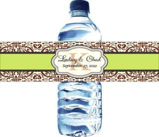50 Personalized Water Bottle Labels Waterproof   Great for weddings
