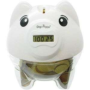 NEW DIGI PIGGY LCD DIGITAL READOUT COIN COUNTING BANK