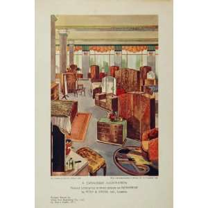 1934 Art Deco Bedroom Furniture Dressing Table Print