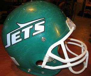 NEW YORK JETS 1980s NFL OLD THROWBACK VINTAGE LOGO FOOTBALL AIR