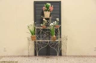 Victorian Wire Antique 1890 Garden Plant Stand |