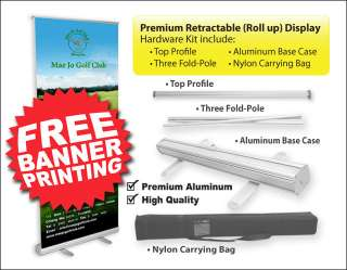 Trade Show Display Banner Stand Roll Up Banner x 4 pcs