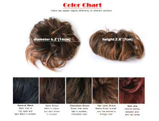 BUN Extensions elastic piece BIG sz Updos Hair Styling common grade ml