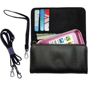 Black Purse Hand Bag Case for the Samsung GT C3300 with both a hand