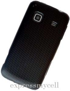 Screen + Carbon Fiber Hard Case Cover for Straight Talk SAMSUNG GALAXY