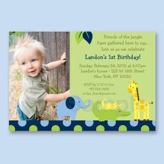 Jungle Animal Birthday Invitation Printable Print Your Own