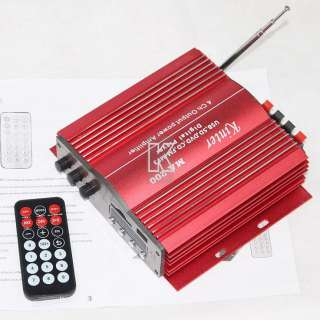 FM TDA7388 TDA2005 Remote Control Car Motocycle Amplifier Red