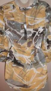 Nicole Miller New York Blouse L Large Shirt Womens NWT