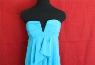 NICOLE MILLER STRAPLESS RUFFLED FRONT DRESS SZ 4 $300 BH0669