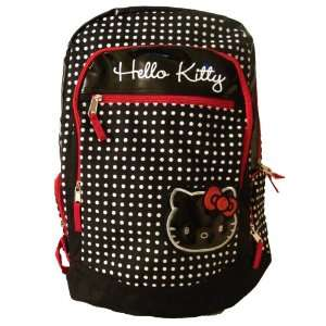 Hello Kitty: Polka Dot Large Backpack / Black: Toys & Games