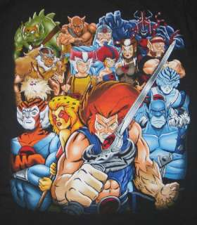 Thundercats Series on Thundercats Tv Series Group Cast Art Image T Shirt  New