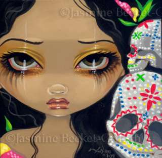 35 Jasmine Becket Griffith Mexican Sugar Skull Dead SIGNED 6x6 PRINT