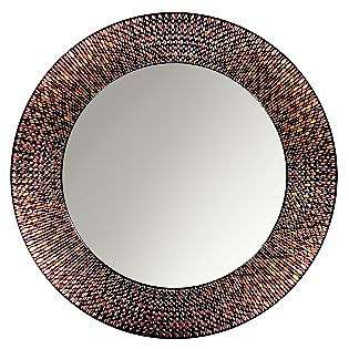 Amber Mosaic Circle Mirror  Head West For the Home Wall Decor Art