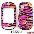 FOR SAMSUNG GRAVITY T TOUCH SGH T669 PEACE SIGN PINK ZEBRA PHONE CASE