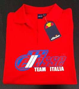 Ellesse Mens Polo Shirt Tennis Red Size S New