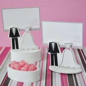 Bride Groom Place Card Favor Boxes with Designer Place Cards (set of