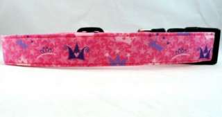Awesome Pink Queen Princess Crown Star Dog Collar