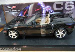 Hot Wheels Corvette C6 Convert Black Car Die Cast 118