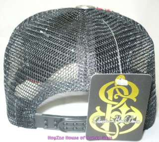 mens skull cross trucker ballcap with rhinestone hat printing tattoo