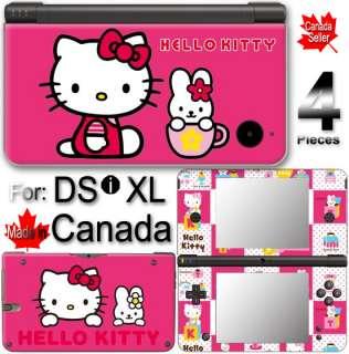 Hello Kitty Rose Pink DSi XL Vinyl SKIN STICKER COVER