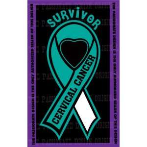 Cervical Cancer Ribbon Decal 6 X 11 Everything Else