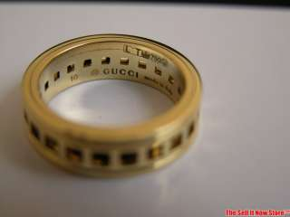 Women's Designer Gucci 18k Yellow Gold Spinning Ring Size 5.5