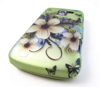 GREEN HAWAII FLOWERS HARD SHELL SNAP ON CASE COVER LG ENLIGHTEN PHONE