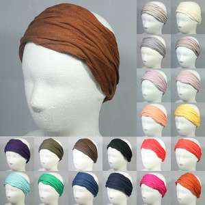 COTTON HEADWRAP HEAD HAIR BAND ACCESSORY ELASTIC STRETCH CROCHET WIG