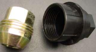 New GM Black plastic external thread hex lug nut cover