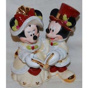 Disney Victorian Mickey & Minnie Caroling Figurine