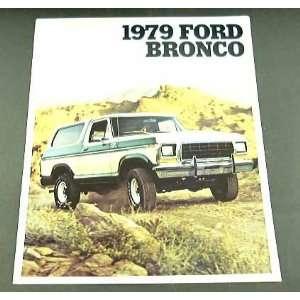 1979 79 Ford BRONCO Truck BROCHURE Ranger XLT Custom