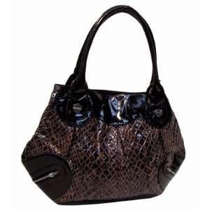 BEAUTIFUL Brown Snake Skin Like Tote/Handbag Everything