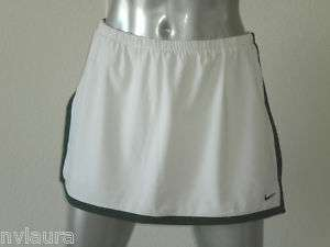 NIKE WOMENS WHITE GREEN DRI FIT BORDER TENNIS SKIRT SKORT XS