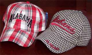 CAP LOT Plaid + Houndstooth Alabama Crimson Tide Fishing Ball Caps