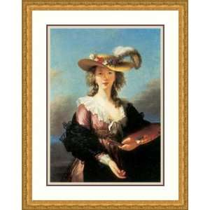 Self Portrait by Madame Louise E. Vigee Lebrun   Framed