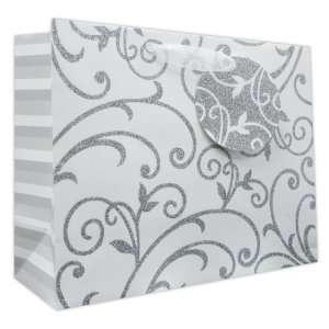 120 Pcs Premium Paper Gift Bags Bulk 10 x 12.5 x 5 (Wedding Fleur)