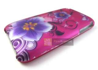 PINK PURPLE FLOWER Phone Cover Hard Case Apple iPhone 3G 3Gs Accessory