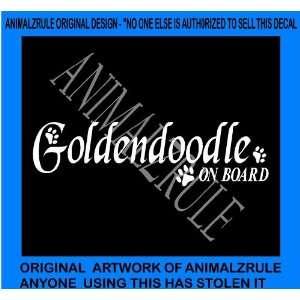 GOLDENDOODLE DOG VINYL DECAL