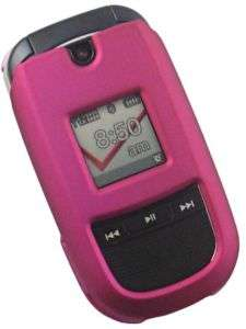 HOT PINK RUBBERIZED COVER SKIN CASE FOR LG VX8360 PHONE
