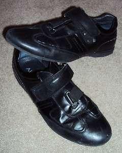Mens Aldo black sneakers shoes size EU 42 US 9 velcrow straps fashion
