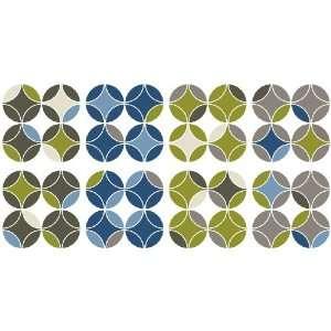 DCWV Wall Art Geo Grid, Peel Stick, Metallic Multi