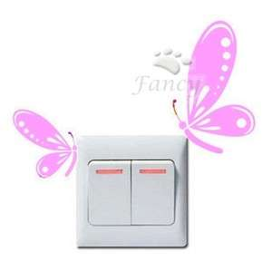 Switch Decal Wall Decor Sticker Butterfly