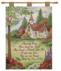 AMAZING GRACE Inspirational Tapestry Wall Hanging