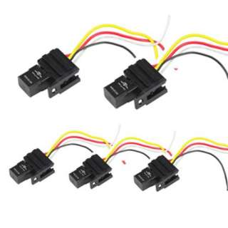 12V Relay Kit For Electric Fan Fuel Pump Light Horn 4P 4 Wire