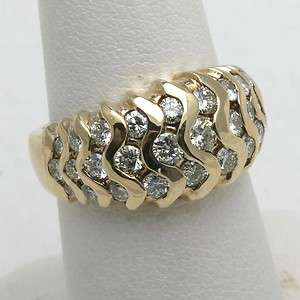 NEW 14k yellow gold diamond Ring Band 1.62 ct domed