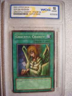 Yu Gi Oh Card GRACEFUL CHARITY Super Rare Yugioh 10 GEM MT HOLOFOIL