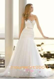 Custom Beach Chiffon Wedding Bridal Prom Evening Dress&