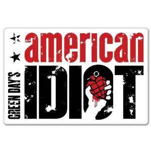 Green Day American Idiot car bumper sticker decal 6 x 4