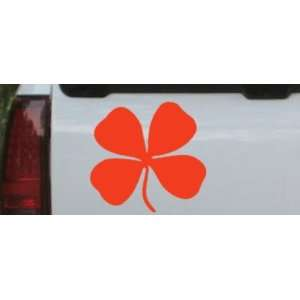 Four Leaf Clover Car Window Wall Laptop Decal Sticker    Red 22in X 21