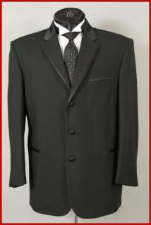 NEW LORD WEST MENS BLACK PINSTRIPE TUXEDO JACKET 44 S